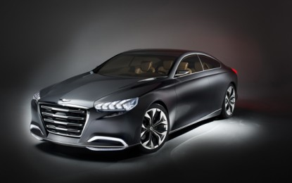 Hyundai to Display HCD-14 Genesis Concept at Rollings Sculpture Car Show