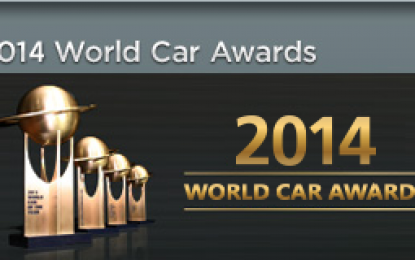 2014 World Car of the Year Top Three Finalists Announced
