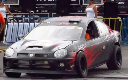 Watch Dual-engine Neon SRT 4 Performing FWD and RWD Burnouts, AWD Launch