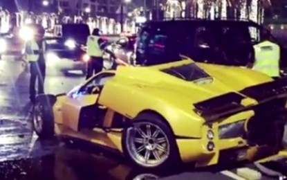 Video Shows Pagani Zonda F Involved In Dubai Crash
