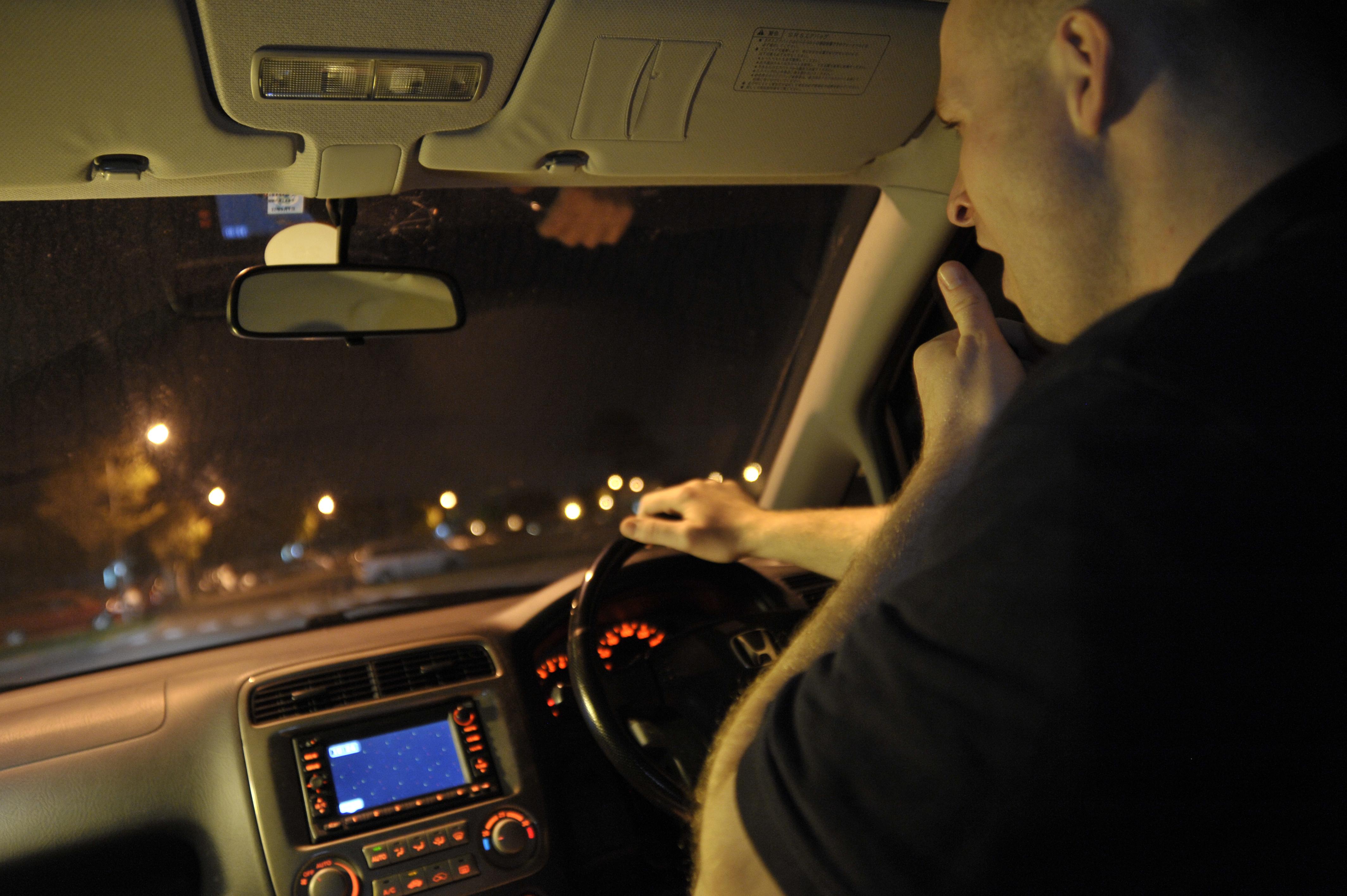 sleep while car